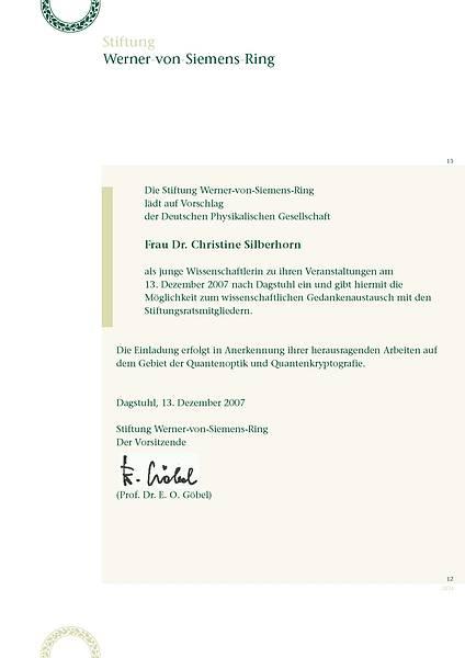 Einladung Christine Silberhorn
