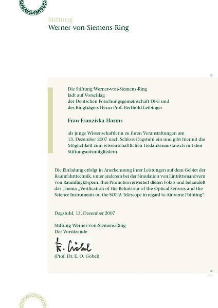 Einladung Franziska Harms