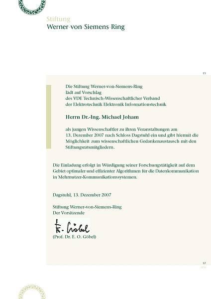 Einladung Michael Joham